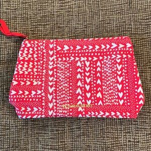 Victoria's Secret Red Heart Cosmetic Bag